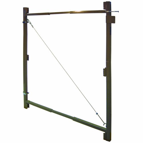 Adjust-A-Gate AG 60-3 3-Rail Contractor Quality Gate Kit, 60-Inch to 96-Inch by 60-Inch Height