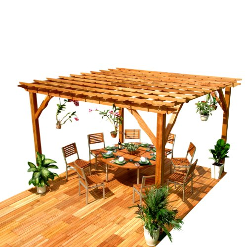 Wood Pergola Kits Home Depot