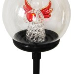 Color Changing Solar light – Glass Ball w./ Angel Sweet Heart