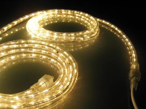 Led lights landscape lighting 50ft rope lights soft white led rope light kit 10led spacing aloadofball Choice Image