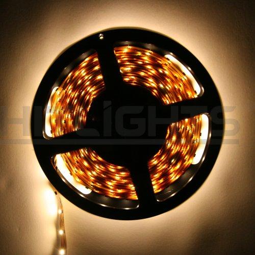 hitlights warm white flexible ribbon led strip light 300 leds 5 meters 16. Black Bedroom Furniture Sets. Home Design Ideas