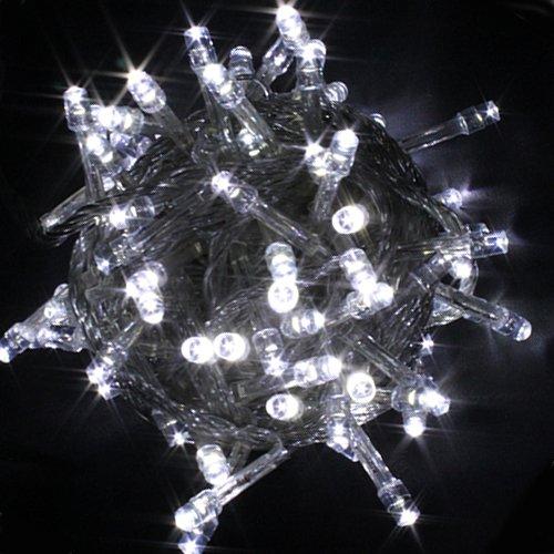 100 LED Fairy Light String Christmas Holiday Lights for Room Garden Home Decoration (White ...