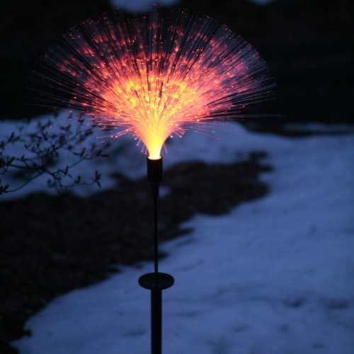 mr light 44334 single solar fiber optic garden stake with color. Black Bedroom Furniture Sets. Home Design Ideas