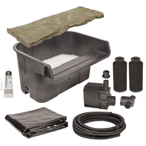 Beckett Corporation Waterfall Kit With Pump Overflow Stone And Liner Landscape Lighting