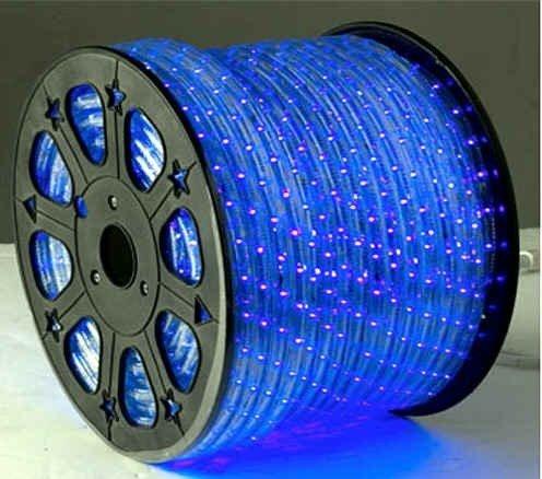 blue 12 v volts dc led rope lights auto lighting 9 8 feet landscape