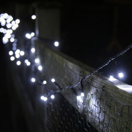 INST Solar Powered 100 LED String Light for Outdoor and Indoor Use (White) Landscape & Lighting