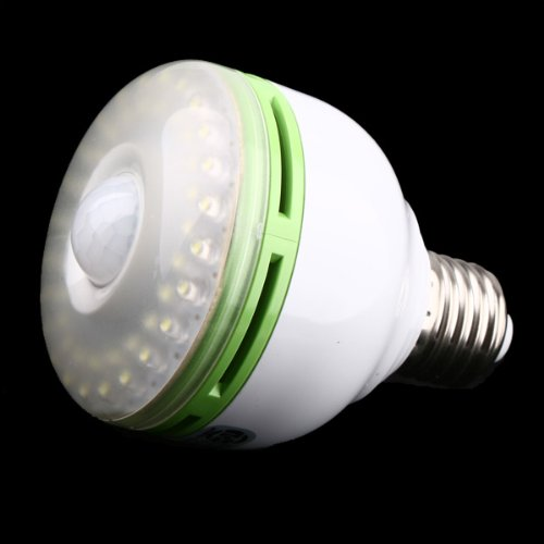 Amzdeal White E27 110v 48 Led Motion Sensor Light Bulb