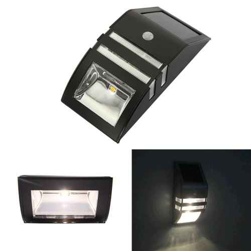 Wall Top Solar Lights : ABS Solar Motion Sensor Super Bright LED Wall Light Landscape & Lighting