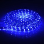 NEW 18′ Vivid Carribean Ocean Blue Rope Lights, Cool Led Warm Holiday Christmas Indoor Outdoor Mancave