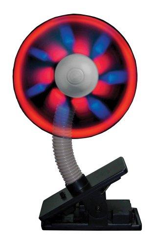 Can You Imagine Fantastik Clip On Light Show Fan Black