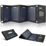 Anker® 14W Solar Panel Foldable Dual-port Solar Charger for 5V USB-charged Devices Including GPS Units, iPhone, iPad, Android Phones and Android Tablets