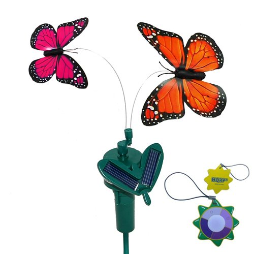 Hqrp 2 Solar Powered Flying Fluttering Butterflies Orange