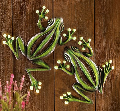 Decorative Glowing Garden Frogs Wall Decor Landscape