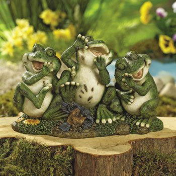Laughing Frogs Garden Outdoor Yard Decor Landscape