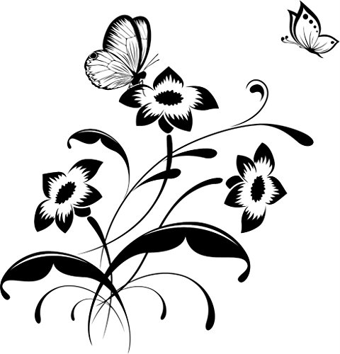 Design With Vinyl Cryst 152 180 Black Butterfly Insect