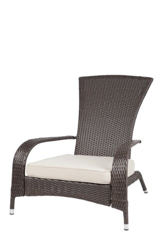Patio Sense Coconino Wicker Adirondack Chair Landscape