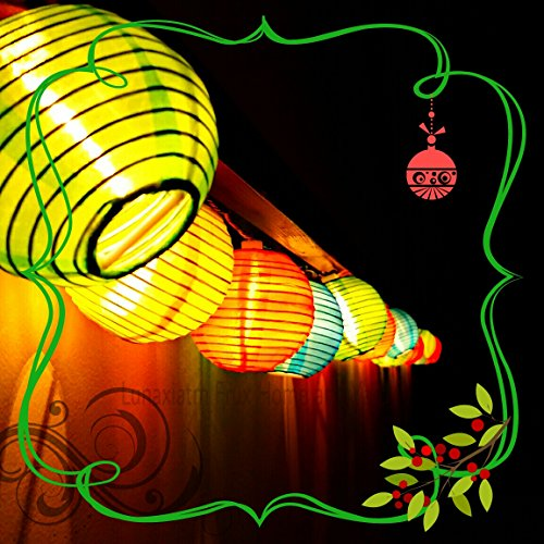 Long String Lights Indoor : LUNAXIA 24 MULTI COLOR INDOOR OUTDOOR MINI NYLON STRING LIGHTS EXTRA LONG 16 FT EXTENDABLE ...