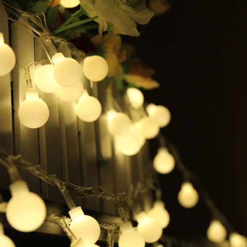 Ball String Lights Indoor : 100 LED 33ft/10m Globe String Lights Warm White Ball Fairy Light for Party Christmas Wedding New ...