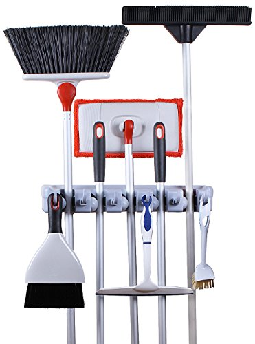 Greenco Wall And Closet Mount Organizer Rack Holds Brooms