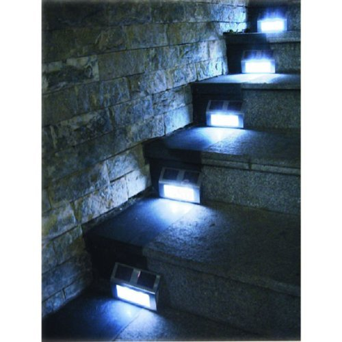 8 Pack Solar Powered Stainless Steel Staircase Led Solar