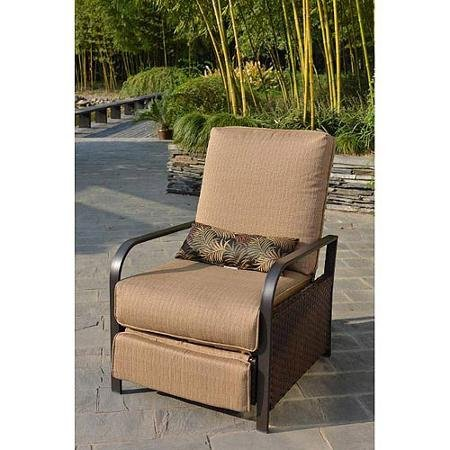 All Weather Wicker Patio Furniture Recliner Chair Rust