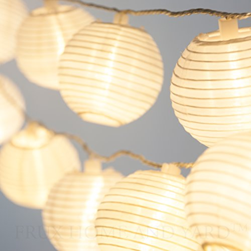 LUNAXIA 24 WHITE INDOOR OUTDOOR MINI NYLON STRING LIGHTS EXTRA LONG 16 FT EXTENDABLE ...