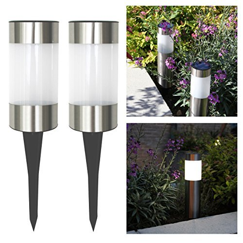 Solar Lights For Brick Wall : Frostfire Small Solar Post Lights Landscape & Lighting