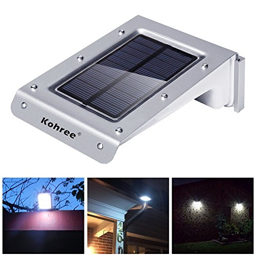 kohree 20 led bright solar powered motion sensor light