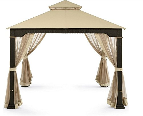 Patio Furniture Party Gazebo With 4 Sided Mosquito Net