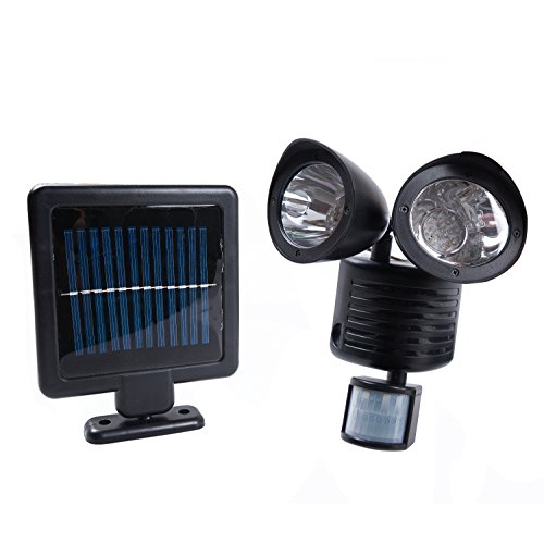 flood light solar energy powered spotlight with dusk to dawn sensor. Black Bedroom Furniture Sets. Home Design Ideas
