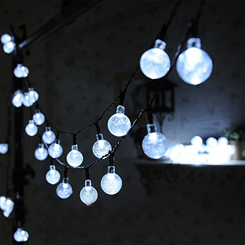 Solar Globe String Lights Outdoor : 30 Led Solar Globe String Lights Outdoor White Crystal Ball Patio Lights for Garden, Path By ...