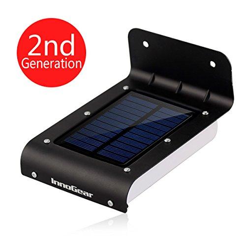 Landscape Lighting Gutter Mount: InnoGear® 16 LED Super Bright Waterproof Solar Powered