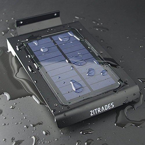 Wireless Outdoor Garage Lights: Zitrades Motion Sensor Light Outdoor Lighting 46 LED Solar
