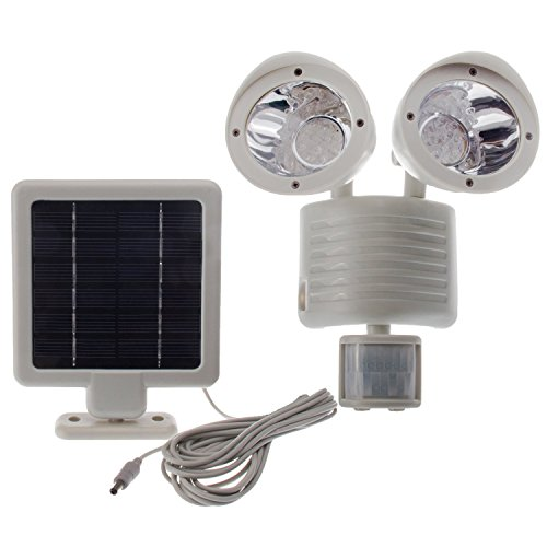 Solar Powered Motion Sensor Light 22 LED Garage Outdoor