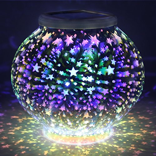 Color Changing Mosaic Solar Light Pandawill Waterproof