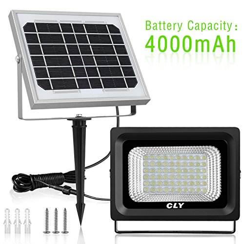 Solar Led Flood Light Outdoor 60 Led Security Flood Light Cly Ip66 Waterproof 300 Lumens