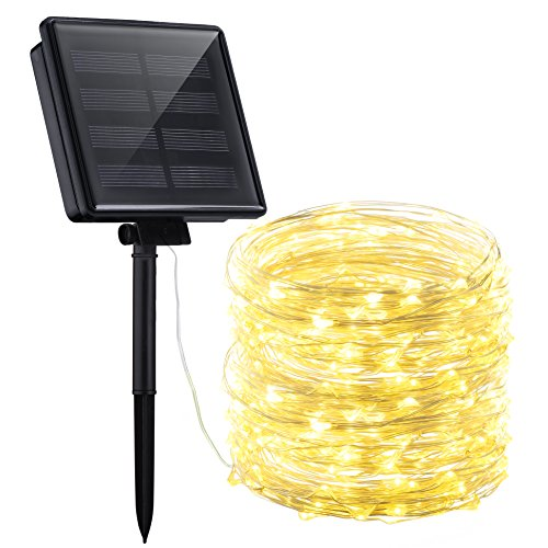 Mpow Solar String Lights 72ft 200led Outdoor String