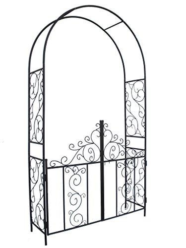 1 go steel garden arch with gate  7 u0026 39 5 high x 4 u0026 39 2 wide