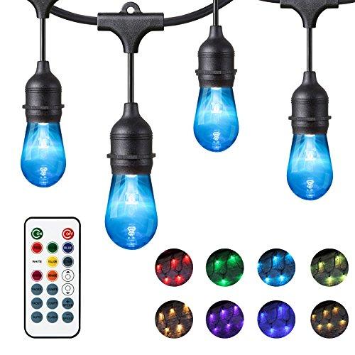 Chende 48ft Color Changing LED Light String, Cafe String ...