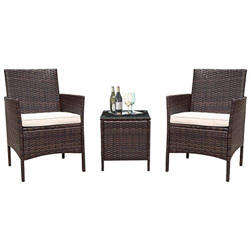 Flamaker 3 Pieces Patio Furniture Set Modern Outdoor