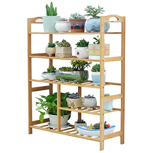 Lsjt Wood Flower Stand Multi Layer Indoor And Outdoor