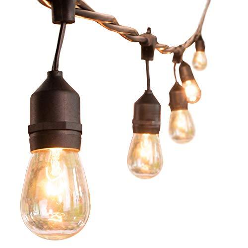 48Ft Outdoor String Lights Weatherproof Vintage Edison