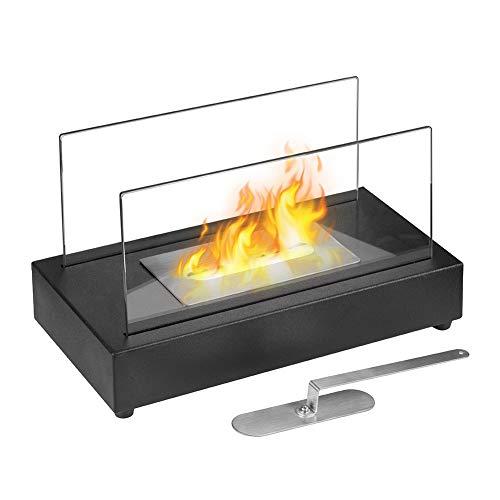 Skypatio Tabletop Fireplace Heater Indoor Outdoor Ventless Table Styled Bio Ethanol Firepits