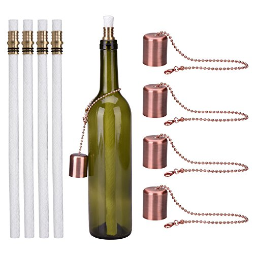 Linkbro Wine Bottle Torch Kit 4 Pack Includes 4 Long Life