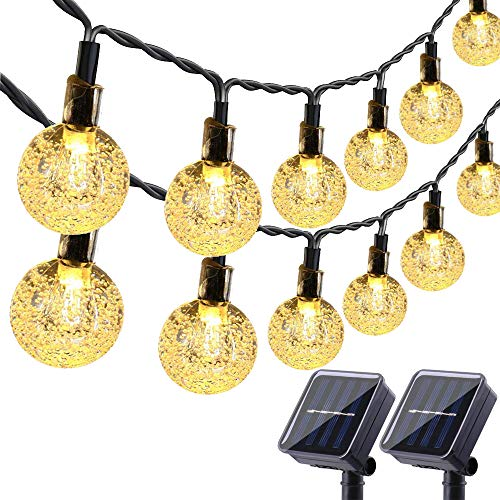 Lyhope Solar Outdoor String Lights 20 Ft 30 Led Crystal